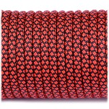 Paracord Type III 550, red snake #262