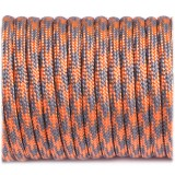 Paracord Type III 550, grey orange quarter #344