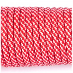 Paracord Type III 550, red white camo #078