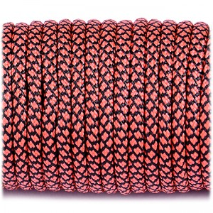 Paracord Type III 550, orange red snake #263