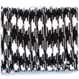 Paracord Type III 550, black white #037