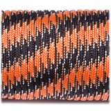 Paracord Type III 550, black orange camo #047