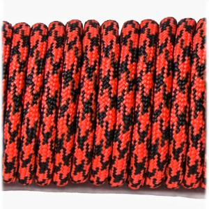 Paracord Type III 550, red black camo #031
