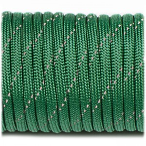 Paracord reflective, green #rp20
