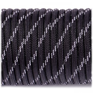 Paracord reflective, black #r3016