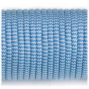 Paracord Type III 550, blue white wave #131