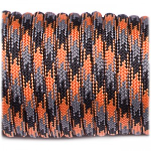 Paracord Type III 550, orange blaze camo #158
