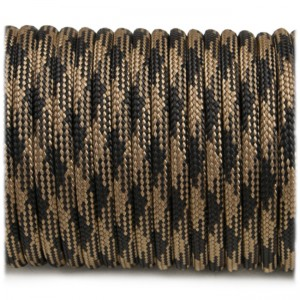 Paracord Type III 550, coyote black #379